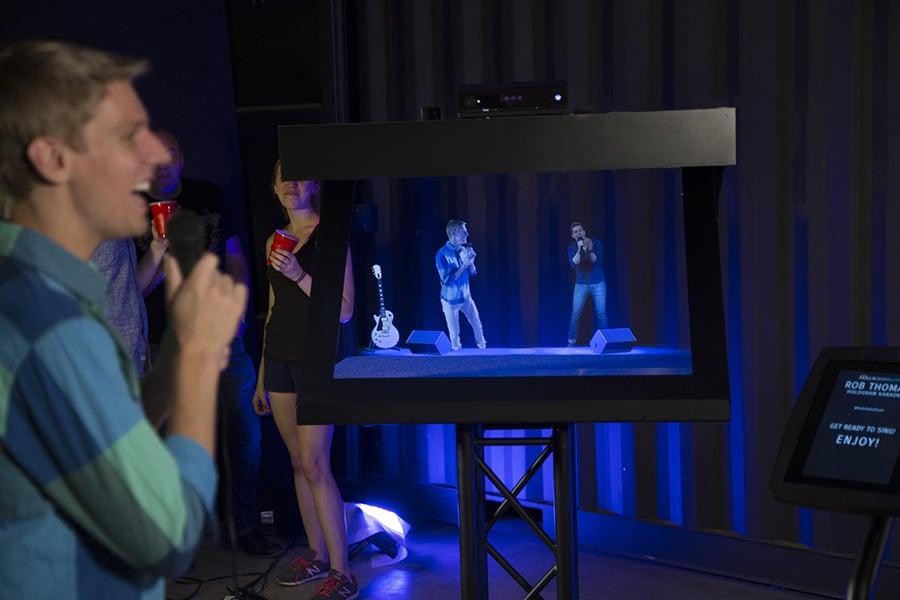 First Hologram Karaoke Experience