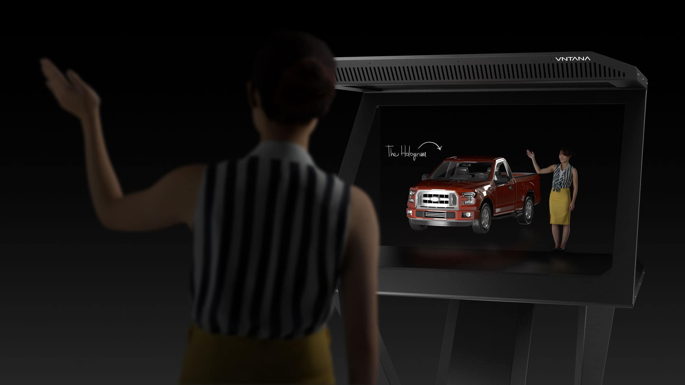 VNTANA Launches Interactive Hologram Product Display