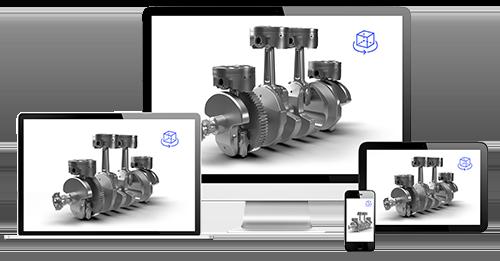 3D Model of engine on VNTANA software